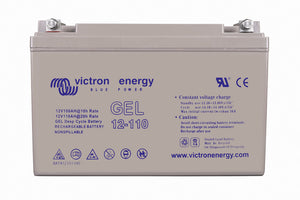 12V 110Ah Gel Deep Cycle Battery (front)