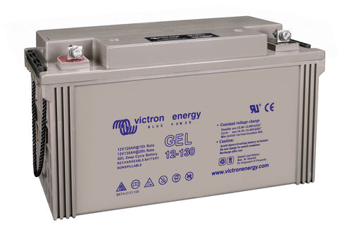 12V 130Ah Gel Deep Cycle Battery (right)