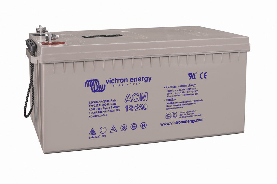 12V 200Ah AGM Telecom Battery (right)