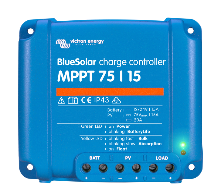 BlueSolar charge controller MPPT 75/15 (top)