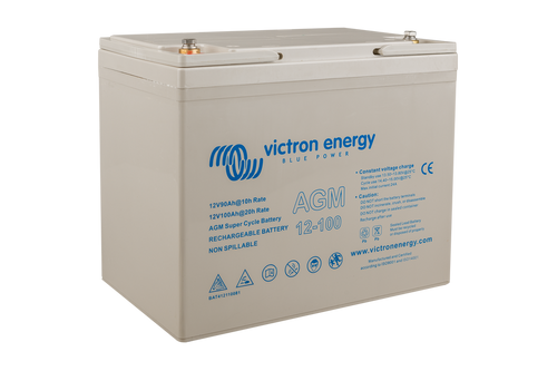 12V 100Ah AGM Super Cycle Battery (right)