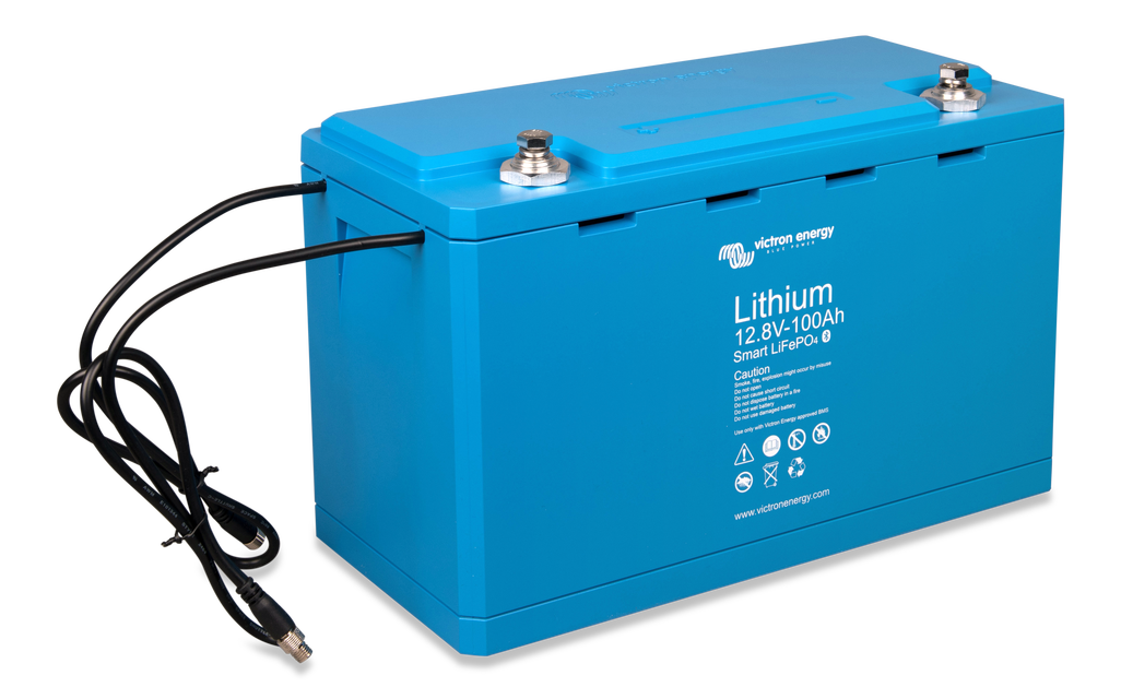 LiFePO4 Battery 12.8V 100Ah Smart (right-angle)