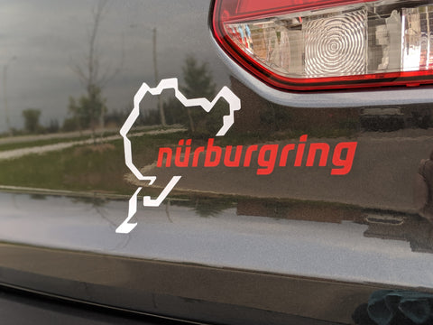 Nürburgring Style Decal With Track Shiloutte