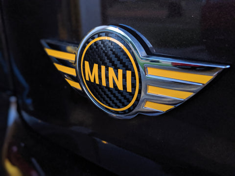Mini Cooper - Mini Emblem Center Circle Overlay and Wings Overlays Combo (Single)