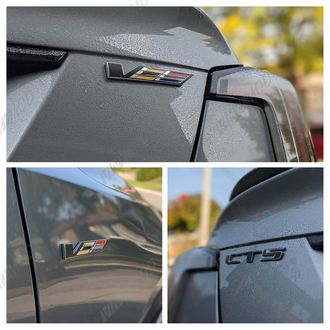 2016-2019 (3rd Gen) Cadillac CTS - Rear CTS, AWD, V Flag VinylMod Overlays Combo