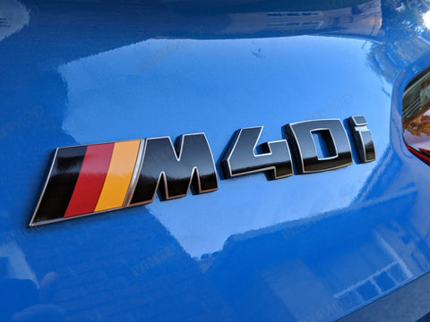 2019+ (6th Gen) BMW Z4 - Rear M Color Emblem Vinylmod Overlay