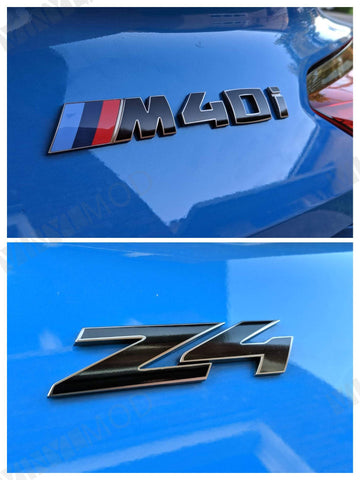 2019+ (6th Gen) BMW Z4 - Rear Z4 and M40i Emblem Vinyl Overlay Combo
