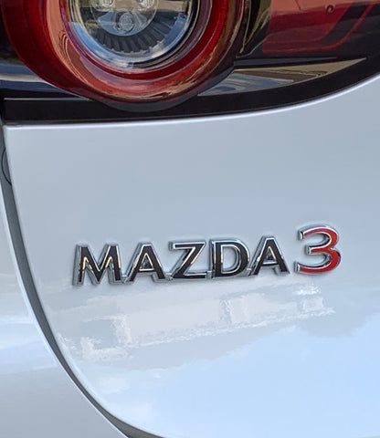2019+ (4th Gen) Mazda 3 - Rear Mazda 3 Emblem VinylMod Overlays