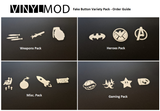Blank Button Decals - Fake Button VinylMod Variety Packs