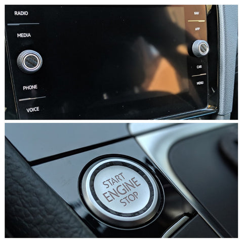 2015+ (MK7) Volkswagen Golf - Start Engine Highlight + Volume/Media Knob (Combo)