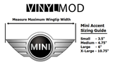 Mini Cooper - Mini Emblem Center Circle Overlay Multi-Size (Single)