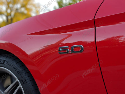 2015+ (6th Gen) Ford Mustang - Side 5.0 Emblem VinylMod Overlays (2pc)