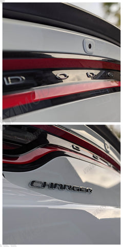 2011+ (7th Gen) Dodge Charger - Rear Dodge and Charger Overlay Combo