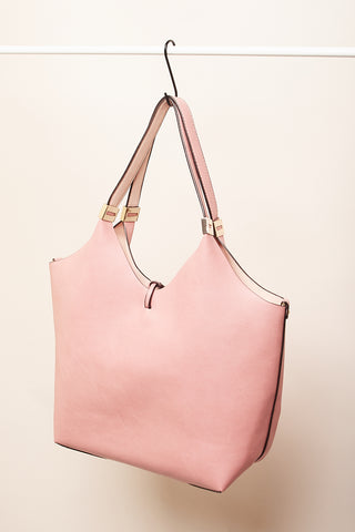 Bolso doble shooping rosa