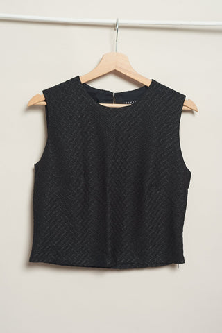 Cropped top en color negro vintage