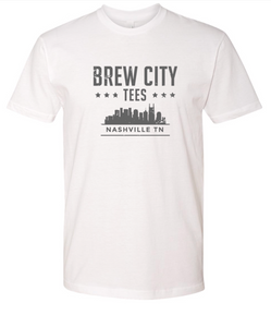 Brew City Tees Mens Nashville Skyline T Shirt