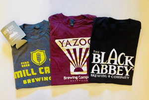 3 Month Surprise T Shirt Subscription + free beer vouchers (Example shirts pictured)