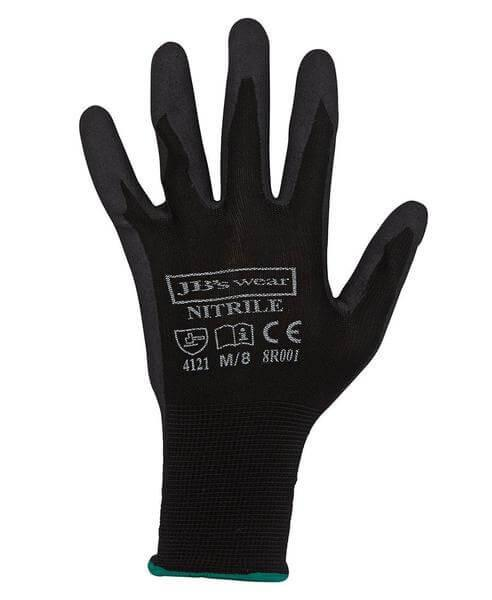 Jb's 8R001 Black Nitrile Glove 12 Pack