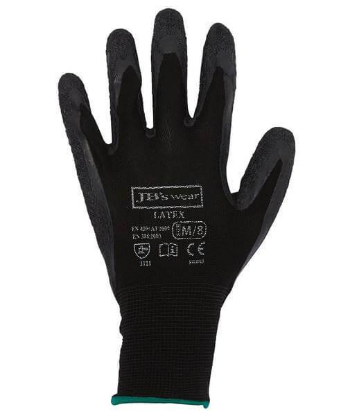Jb's 8R003 Black Latex Glove 12 Pack