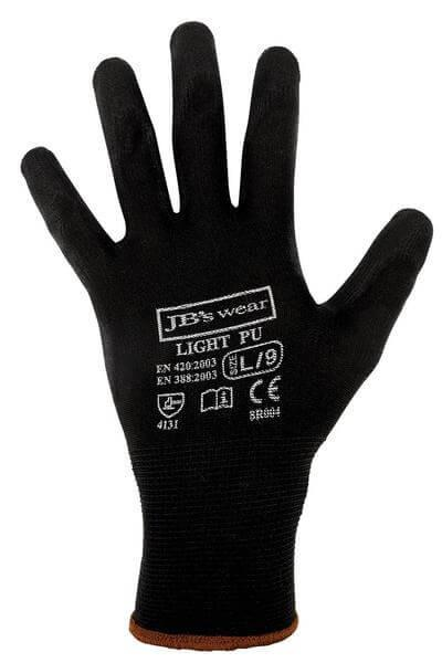 JB's 8R004 Black Light PU Glove 12 Pack