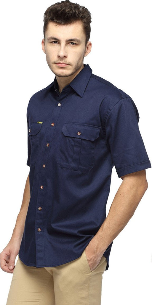 Bisley Original Cotton Drill Shirt - Short Sleeve-(BS1433)