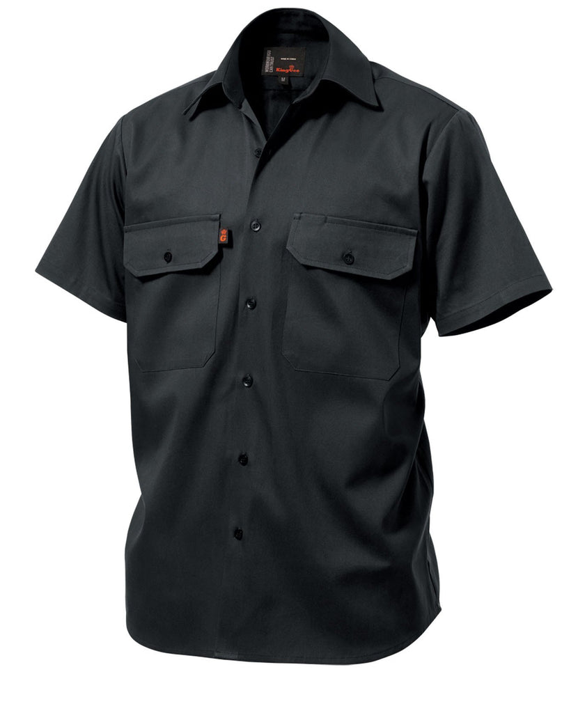 King Gee Sleeve Open Front Drill Shirt - 100% Cotton Drill (K04030)