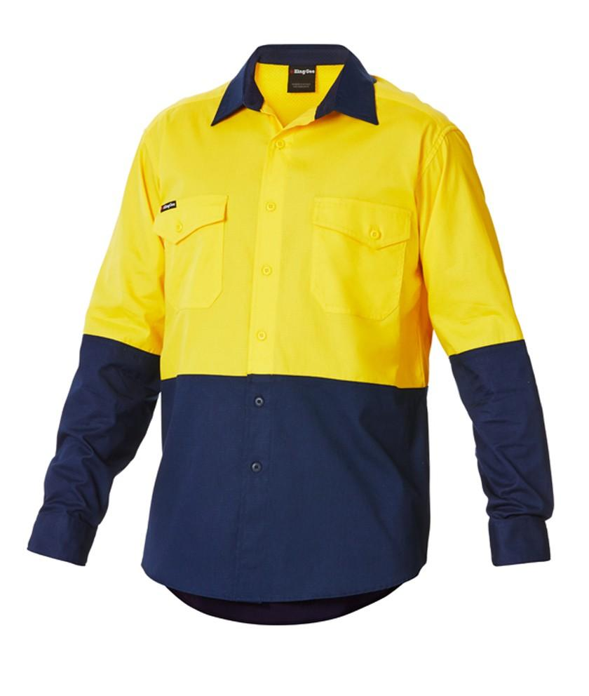 KingGee Workcool 2 Spliced Shirt L/s - Cotton Ripstop (K54870)