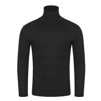 Midweight Cotton Roll Neck Sweater