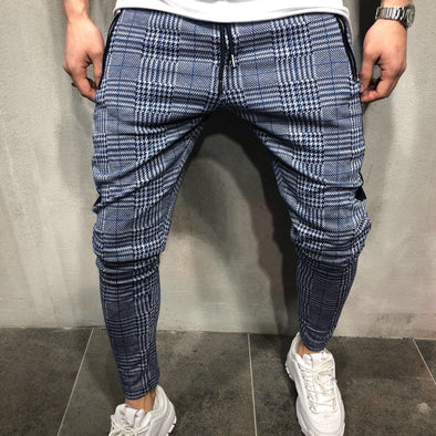 Trunzo Casual Slim-Fit Plaid Pants