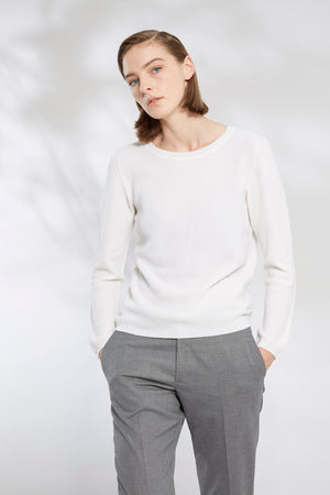 Relaxed Moss Stitch Sweater