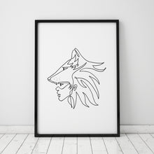 Load image into Gallery viewer, WARRIOR - ART PRINT
