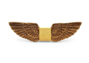 Mahoosive WINGS Wooden Bow tie