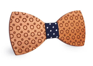 Mahoosive Wooden Dot Bow Tie
