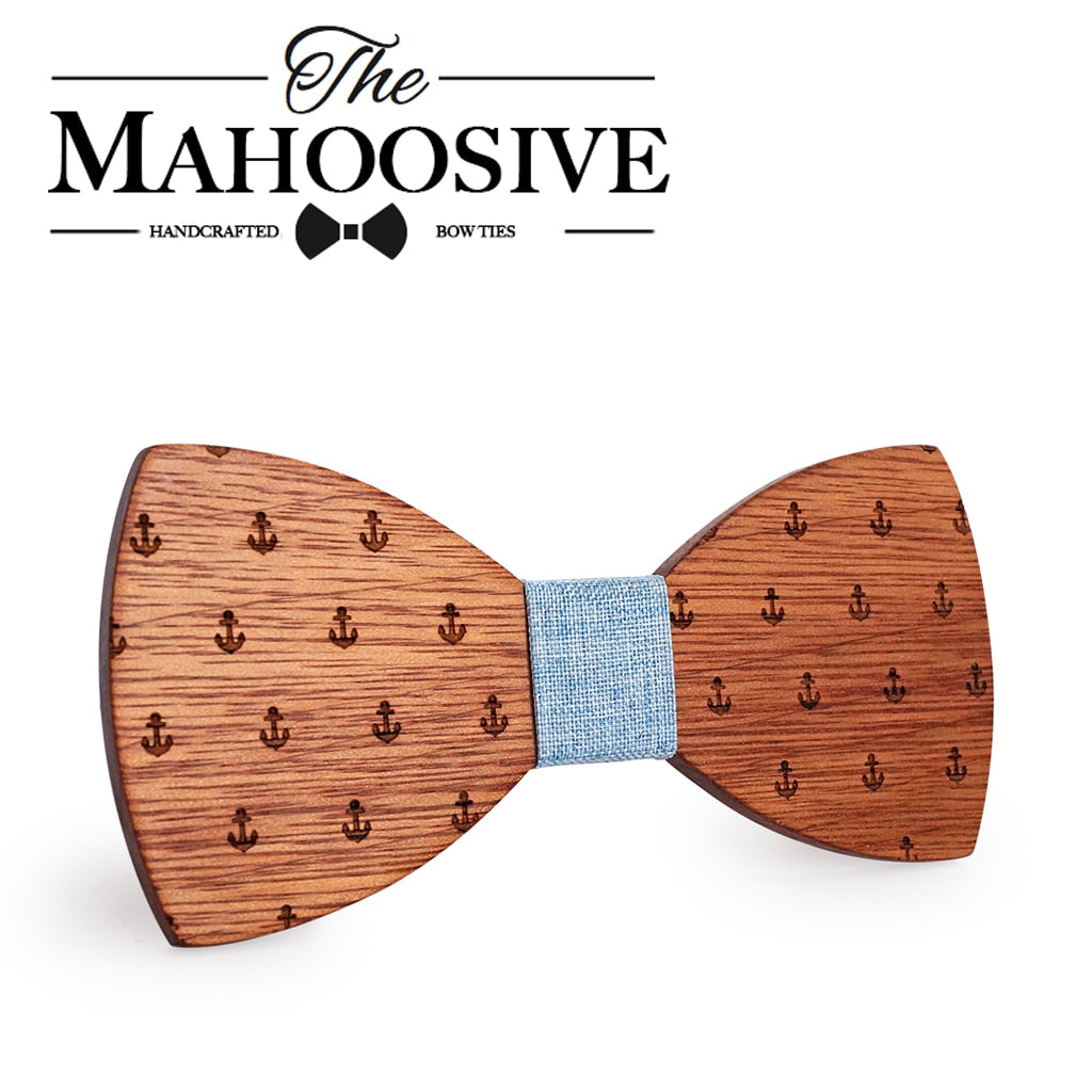 Mahoosive Captain Wooden Bow Tie
