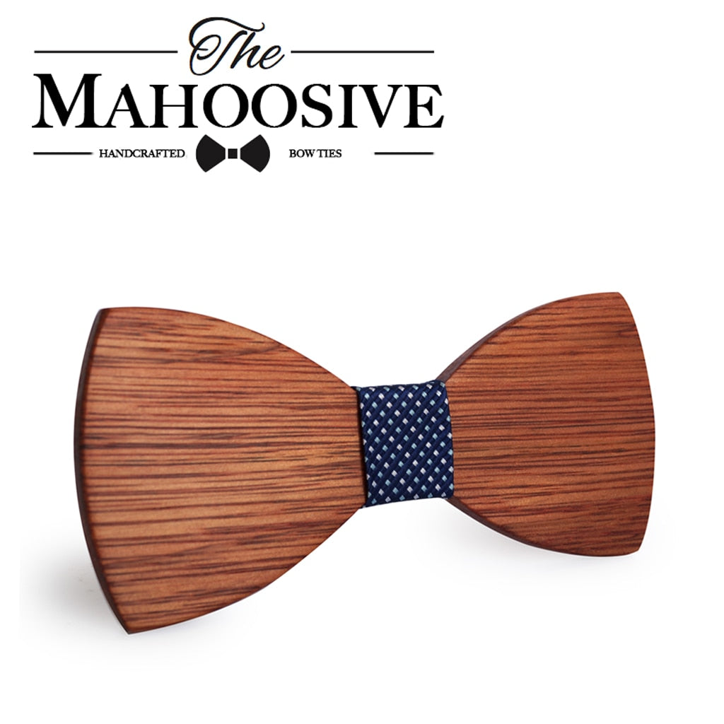 Mahoosive Simple Wooden Bow Tie
