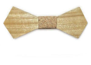 Mahoosive Shaped Wooden Bow Tie