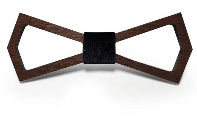 Fashion Hollowed Wooden Bow Tie