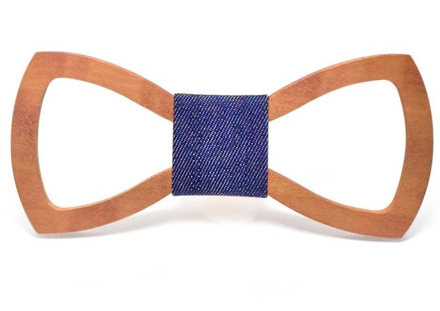 Mahoosive Hollowed Wood Bow Tie