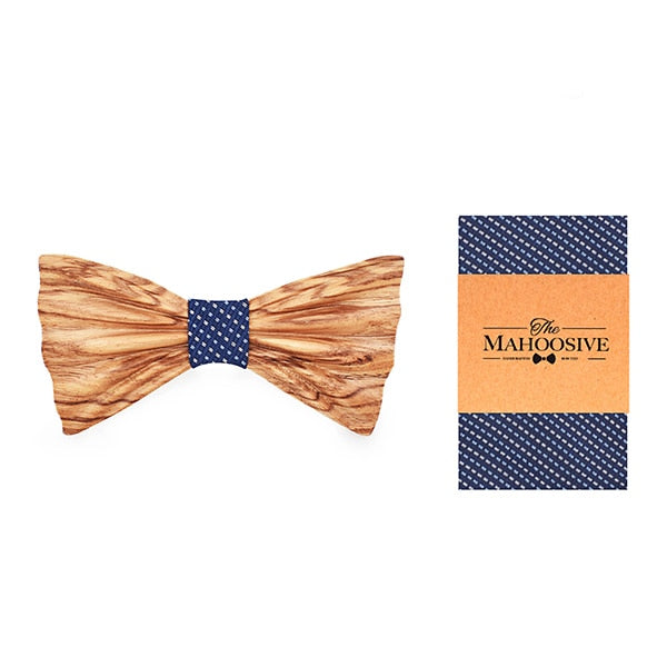 Mahoosive Carved Wooden Bow Tie