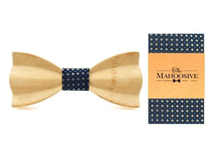 Mahoosive Carved Light Wooden Bow Tie