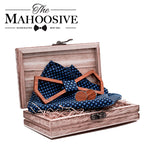 Mahoosive Wooden Bow Tie Hollowed Set