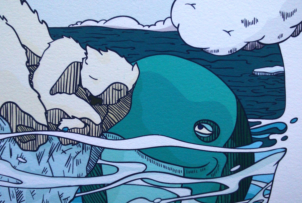 Detail from Bear and whale