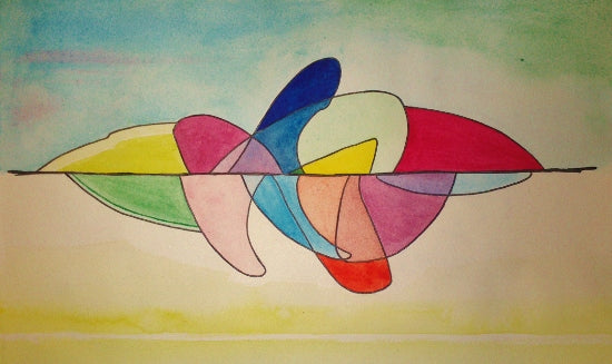 """Curvature"" - watercolour"