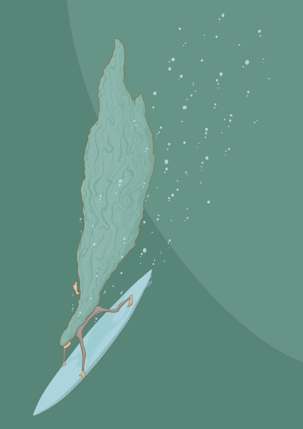 """Deeper"" - digital illustration. Waves of consequence require commitment to going further, deeper..."
