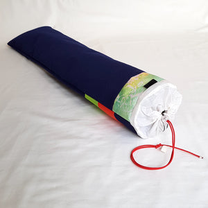 Organic Devolution Surf Mat Travel Bag Handmade Angle View Back Version 6
