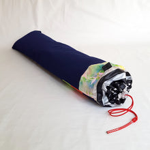 Load image into Gallery viewer, Organic Devolution Surf Mat Travel Bag Handmade Angle View Back Version 7