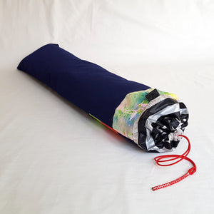 Organic Devolution Surf Mat Travel Bag Handmade Angle View Back Version 7