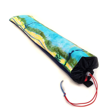 Load image into Gallery viewer, Organic Devolution Surf Mat Travel Bag Handmade Acid Dyed Custom Version 1 Angle View