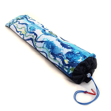 Load image into Gallery viewer, Organic Devolution Surf Mat Travel Bag Handmade Acid Dyed Custom Version 2 Angle View