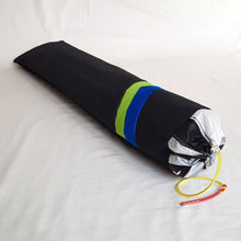 Load image into Gallery viewer, Organic Devolution Surf Mat Travel Bag Handmade Angle View Front Version 9